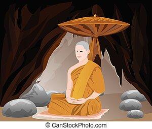 monk shape vector design