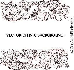 tattoo henna background - Vector abstract tattoo background....