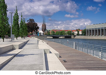 Breslau the cathedral and the promenade - Breslau the...