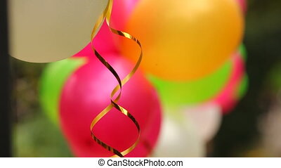 Celebratory balloons - Several colorful festive balloons...