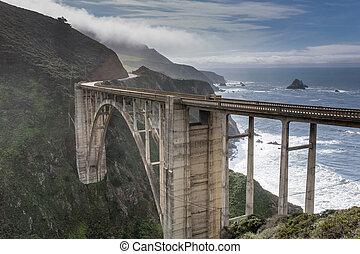 Bixby Creek Bridge After The Storm - Bixby Creek Bridge from...