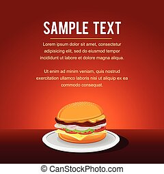 Fast Food Vector Background Template