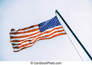 American flag on flagpole