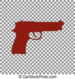 Ilustración, arma de fuego, granate, señal, Plano de fondo,...