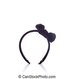 New black headband. Studio shot isolated on white background