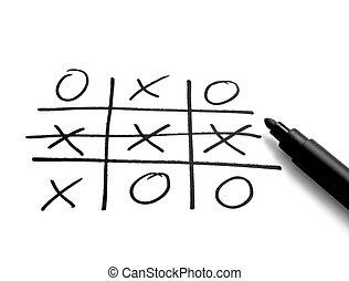 tic tac toe leisure game mental scribble