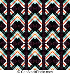 abstract geometric psychedelic seamless pattern on a black...