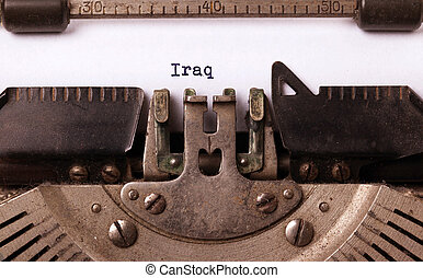 Old typewriter - Iraq - Inscription made by vinrage...