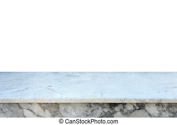 Empty free space of top marble counter or table isolated on...