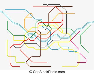 colorful seoul metropolitan subway map - colorful seoul...