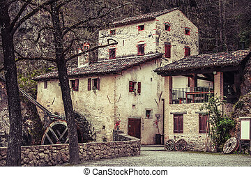 Molinetto della Croda old mill in Italy medieval Europe...