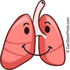 Healthy Lung - A vector illustration of tuberculosis day...