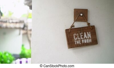 Clean the room sign in hotel