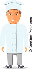 Cartoon Chief Cook Character isolated. Vector