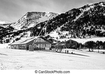 Andorra winter resort Granvalira - Slopes of Winter Resort...