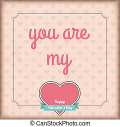 Coração, emblema, vindima,  valentines, cobertura, meu, Dia, Fita