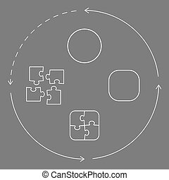 Problem solving puzzle concept - Vector illustration with...