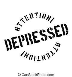 Depressed rubber stamp. Grunge design with dust scratches....