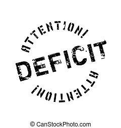 Deficit rubber stamp. Grunge design with dust scratches....