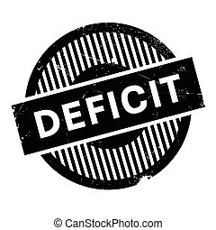 Deficit rubber stamp. Grunge design with dust scratches....