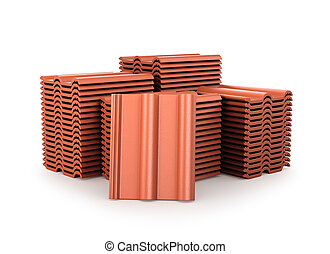 Image of roof tiles. 3D illustration