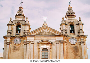 Mdina, Malta. - View of Mdina church in Malta island.
