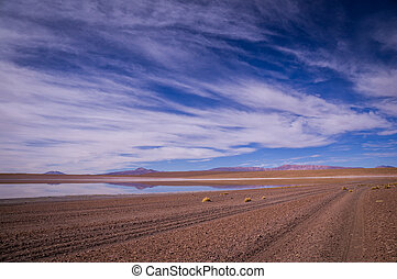 Reflections in altiplano, Bolivia - Reflections in desert...