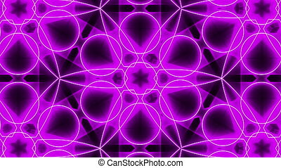 Purple abstract background, kaleidoscope Seamless loop