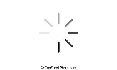 animation - loading circle icon on white background with...