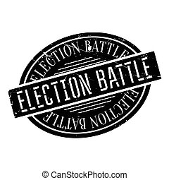 Election Battle rubber stamp. Grunge design with dust...