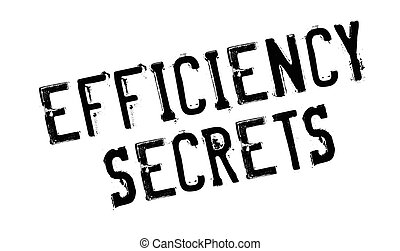 Efficiency Secrets rubber stamp. Grunge design with dust...