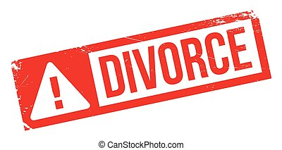 Divorce rubber stamp. Grunge design with dust scratches....