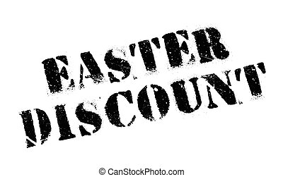 Easter Discount rubber stamp. Grunge design with dust...