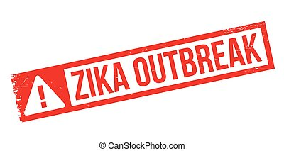 Zika Outbreak rubber stamp. Grunge design with dust...