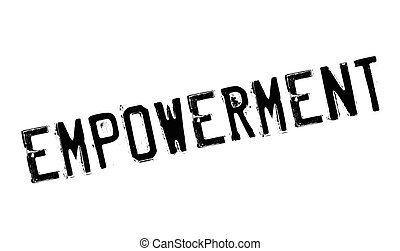 Empowerment rubber stamp. Grunge design with dust scratches....