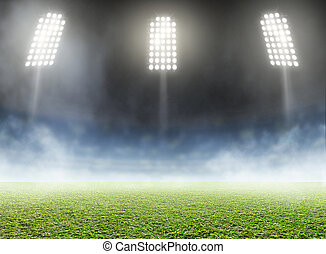 Stadium Outdoor Floodlit - A generic outdoor stadium with an...