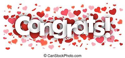 Congrats Confetti Hearts - Confetti hearts with text...