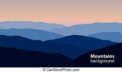Landscape with mountains and hills. Extreme sports, outdoor...