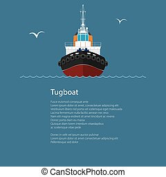 Front View of Push Boat and Text - Front View of the Vessel...