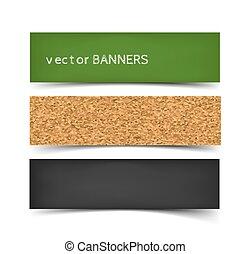 School board banner set. Realistic vector illustration of...