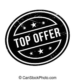 Top Offer rubber stamp. Grunge design with dust scratches....