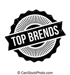 Top Brends rubber stamp. Grunge design with dust scratches....
