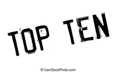 Top Ten rubber stamp