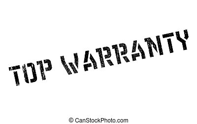 Top Warranty rubber stamp. Grunge design with dust...