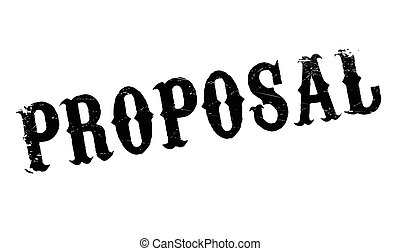 Proposal rubber stamp. Grunge design with dust scratches....