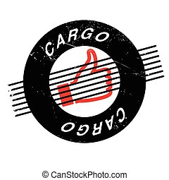 Cargo rubber stamp. Grunge design with dust scratches....