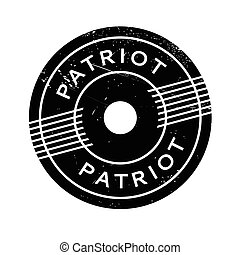 Patriot rubber stamp. Grunge design with dust scratches....