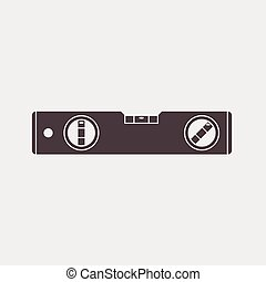 bubble level tool icon on a gray background Vector...