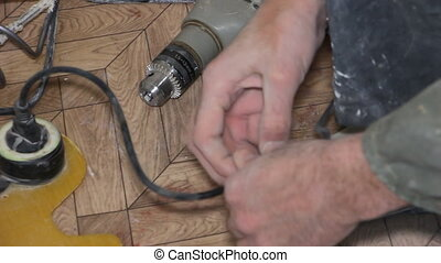 Repair the cord with electrical tape hd