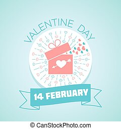 14 February valentine day - Calendar for each day on...